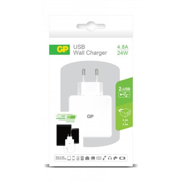 CHARGEUR USB SECTEUR 2PORTS 4.8A   405070