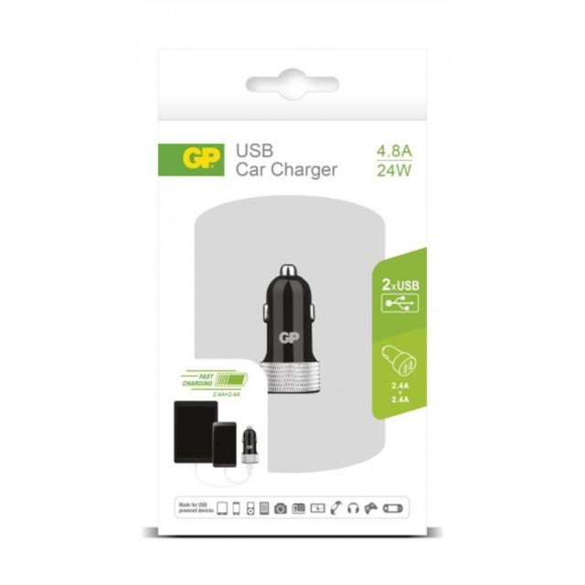 ADAPTATEUR ALLUME CIGARE USB 2PORTS 4.8A   405072