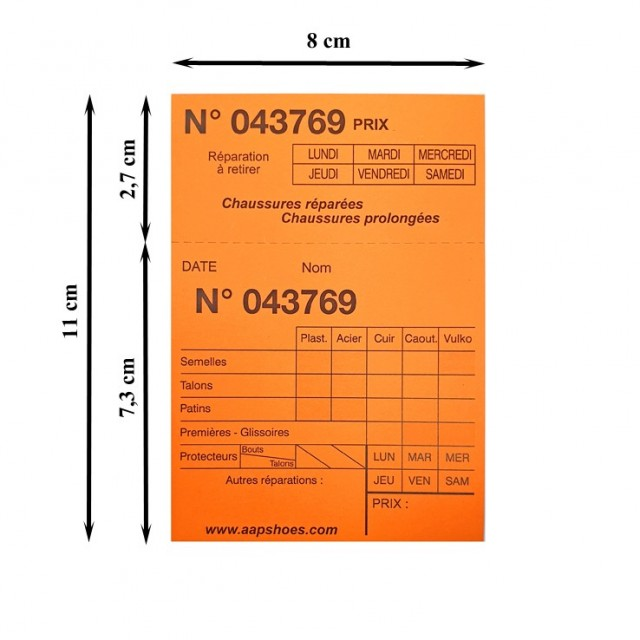 TICKET CORDONNIER PM pqt 1000