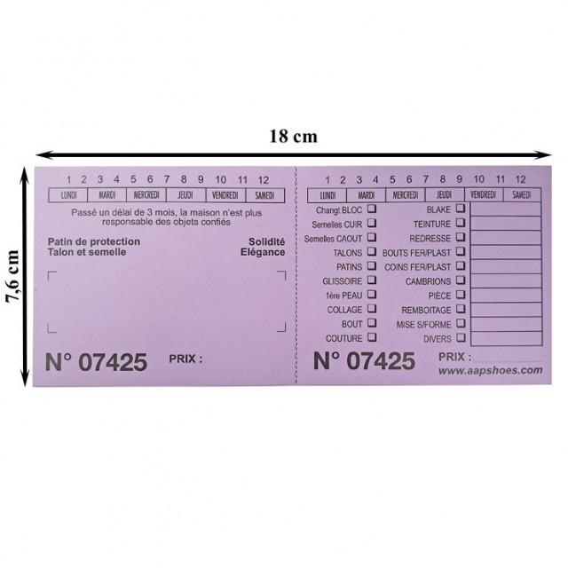 TICKET CORDONNIER GM pqt 1000