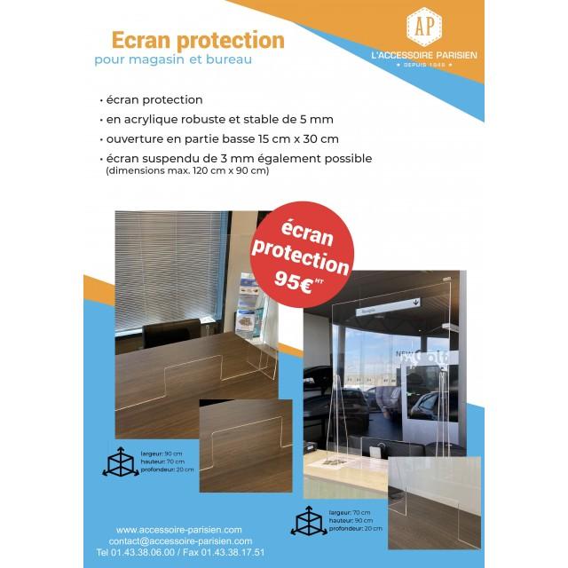 ECRAN DE PROTECTION PLEXI 70*90 5MM